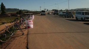 the road to Tumi's Bicycle Shop