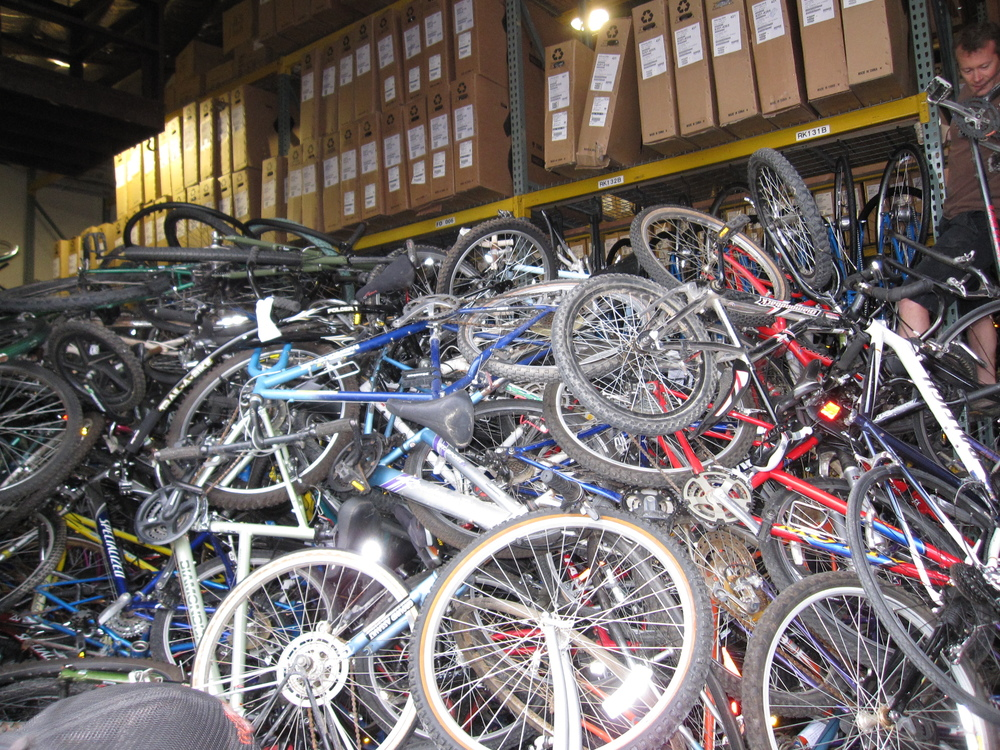 The bikes filled one entire bay of our warehouse, from wall to wall.