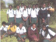 Some of the 2011 MakVeto School Financial Assistance Program Scholars in their new school uniforms.