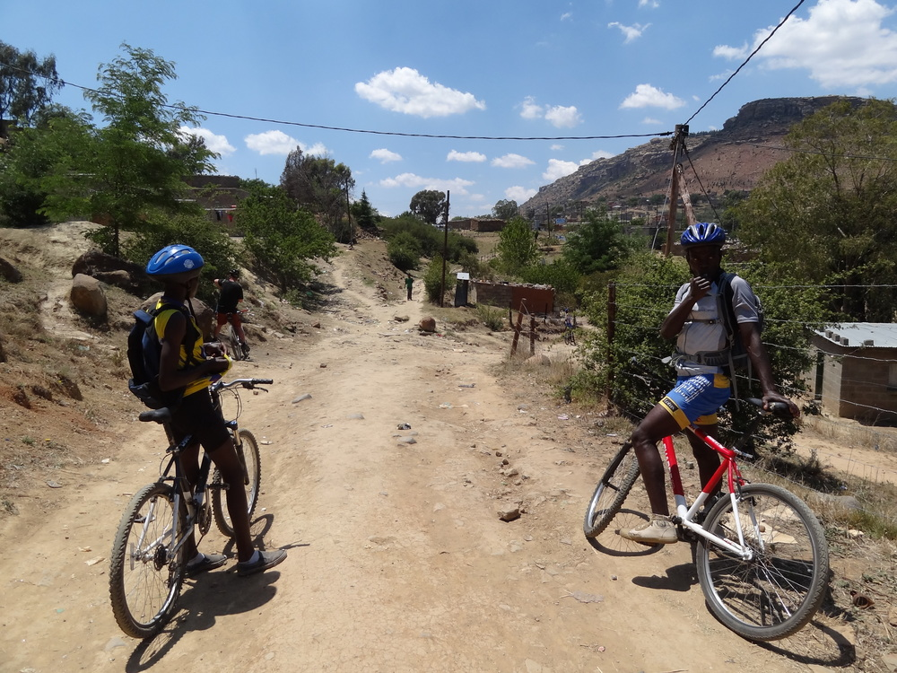 A proper MTB bike is the best way to get around Maseru