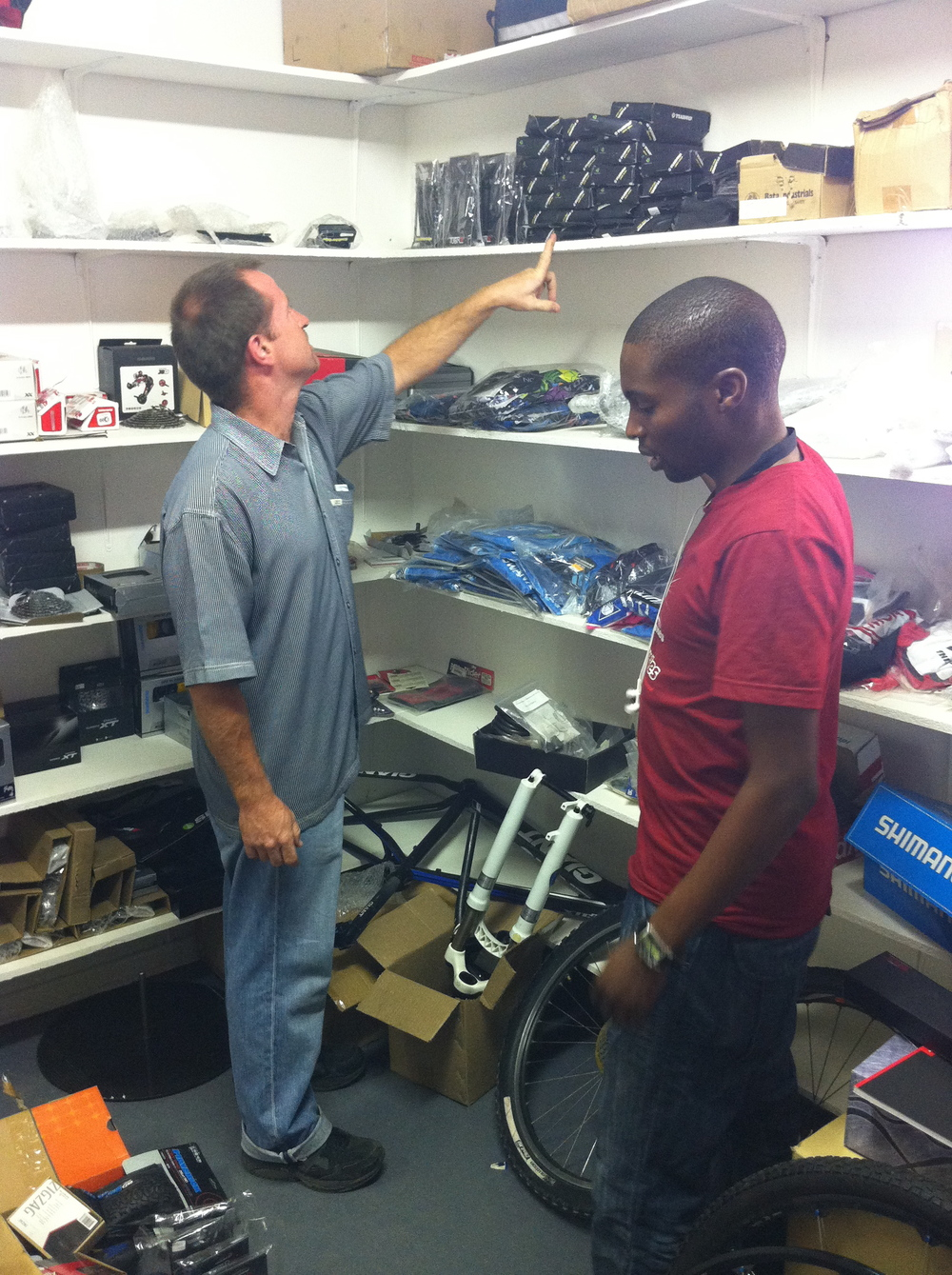 Milton shopping for spare parts with Rob