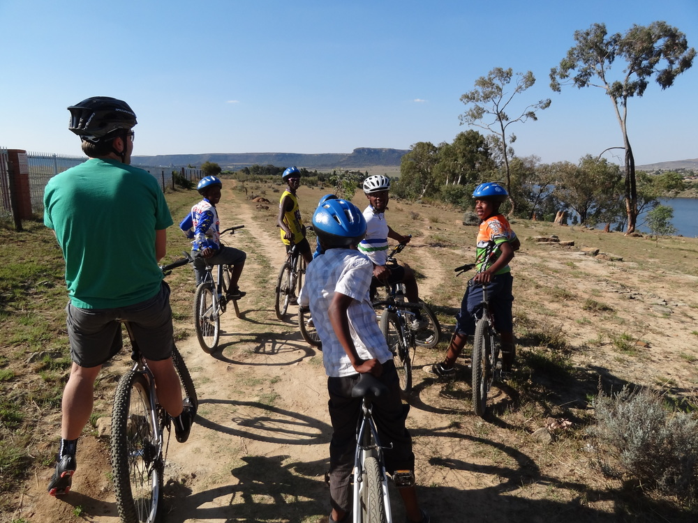 Riding with the kids in Maseru