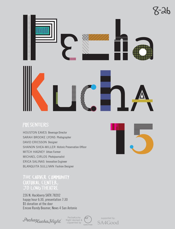 http://www.pechakucha.org/cities/san-antonio/events/53bdf140bfb6ff4e09000002