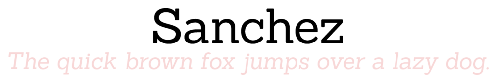 Sanchez: The quick brown fox jumps over a lazy dog.