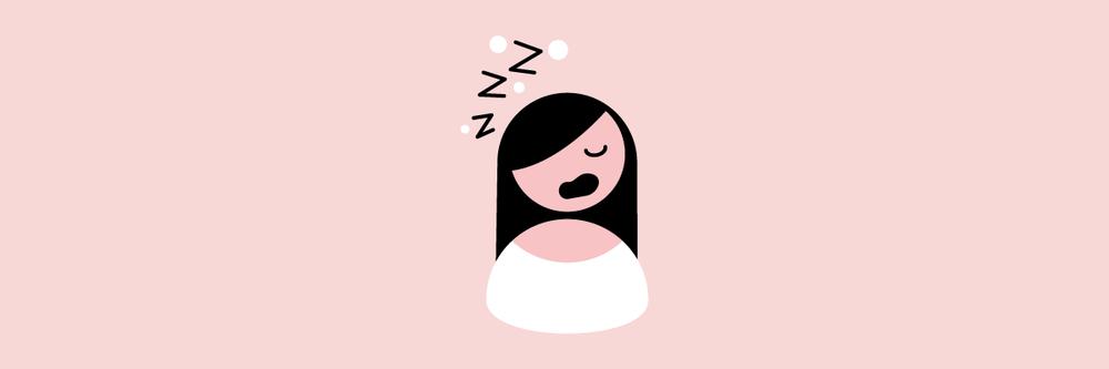 Woman snoring