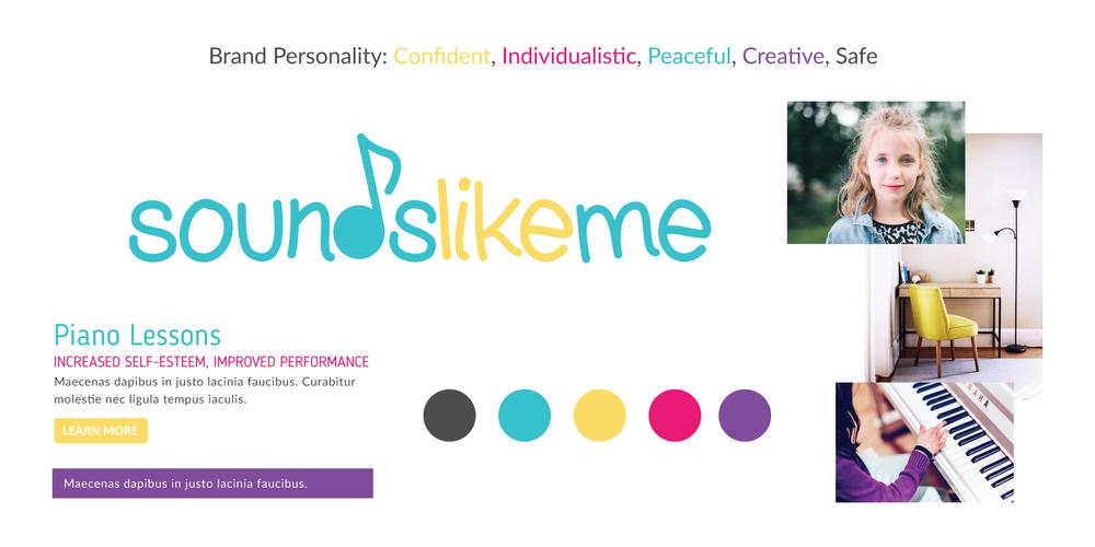Visual brand board for piano teacher