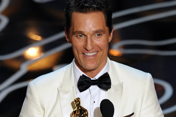 Matthew McConaughey--Best Actor in a Leading Role