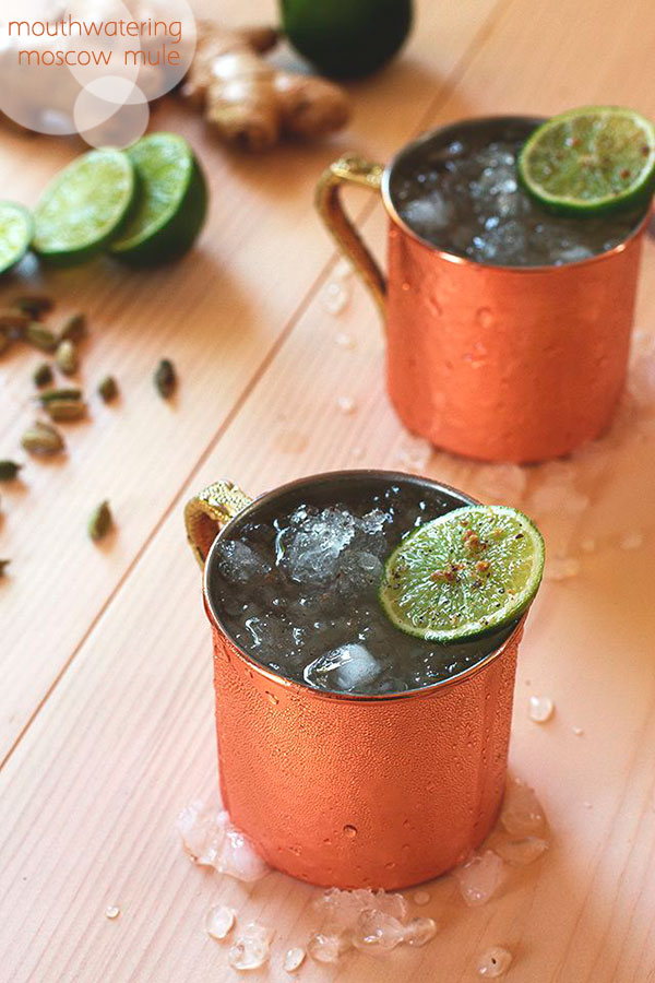 Just looking at this picture makes me drool. If you haven't tried a Moscow Mule, add it to your list THIS WEEKEND. 2 oz vodka // 1/2 oz lime juice // 4 oz cardamom ginger ale // lime wheel and pinch of ground cardamom for garnish