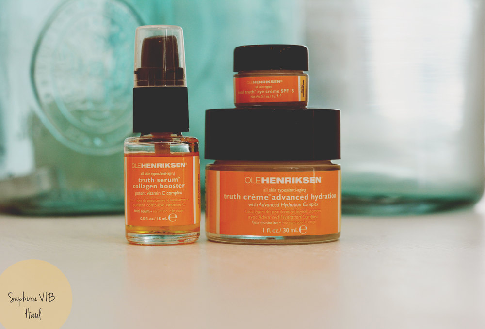 Ole Henriksen  The Whole Truth  value set. Loving this so far, so citrusy and delicious! It's supposed to brighten up the complexion and make you glow!