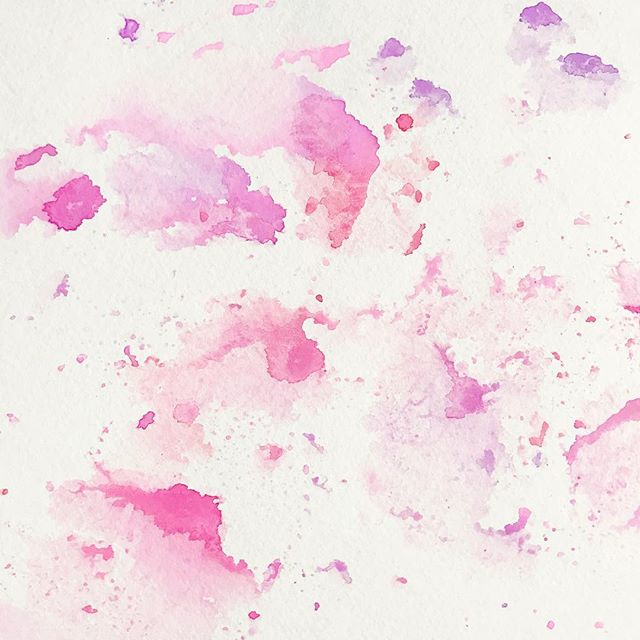 Watercolor Patternzzz. Step 1 in a long process of designing a card or print background. I love creating the physical patterns and converting them to digital elements. That's where the fun really begins! #watercolor #bts . . . . . #pattern #paint #pink #atlantacalligraphy #splatter #background