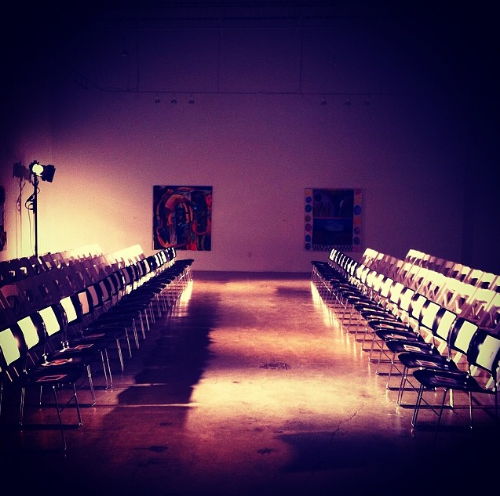 The runway primed and ready before the guests arrive