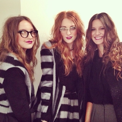 Girls looking geek chic in Abbey Glass Fall 2014