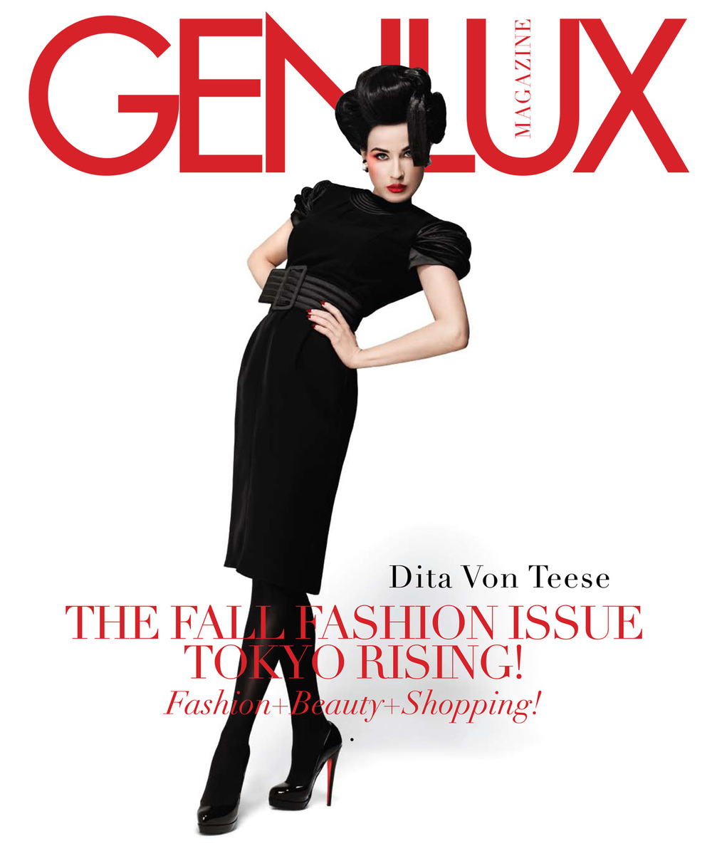 Marc Baptiste's first cover for Genlux. Dita Von Teese for our Fall 2008 issue. Styled by Angel Terrazas.