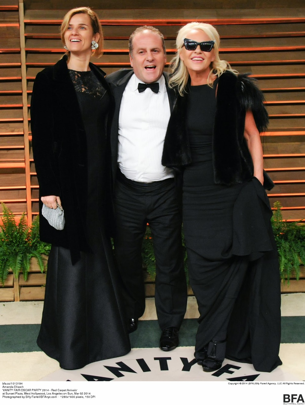 Concetta and Pascal Vicedomini, who hosted the Italian Film Festival in Los Angeles, and Amanda Eliasch at THE VANITY FAIR PARTY