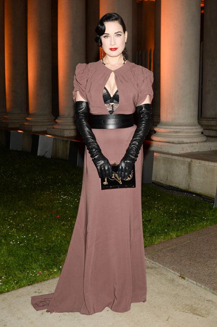 Dita Von Teese attends the Salvatore Ferragamo 2014 Mid-Winter gala to benefit the Fine Arts Museums, San Francisco