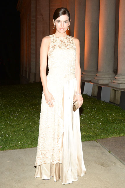 Camila Belle arrives at the Salvatore Ferragamo 2014 Mid-Winter gala to benefit the Fine Arts Museums, San Francisco wearing Salvatore Ferragamo