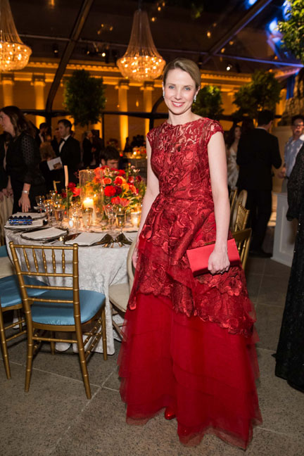 Marissa Mayer at the Salvatore Ferragamo 2014 Mid-Winter gala to benefit the Fine Arts Museums, San Francisco