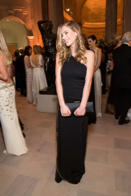 Dylan Penn at the Salvatore Ferragamo 2014 Mid-Winter gala to benefit the Fine Arts Museums, San Francisco, wearing Salvatore Ferragamo