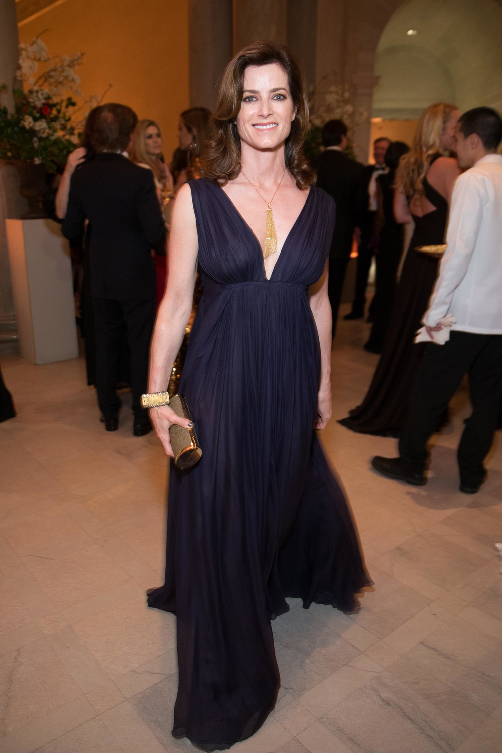 Carol Bonnie at the Salvatore Ferragamo 2014 Mid-Winter gala to benefit the Fine Arts Museums, San Francisco, wearing Salvatore Ferragamo