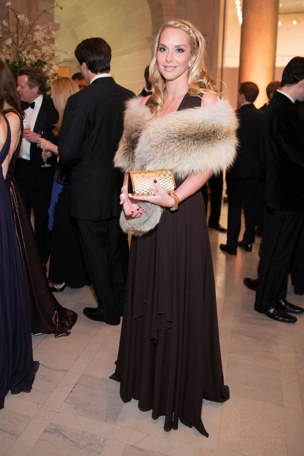 Christina Getty  at the Salvatore Ferragamo 2014 Mid-Winter gala to benefit the Fine Arts Museums, San Francisco, wearing Salvatore Ferragamo