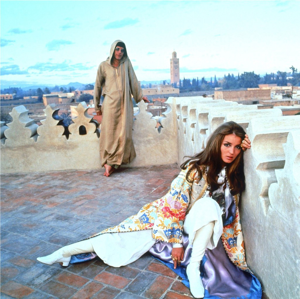 J. Paul Getty, Jr. with his wife Talitha (Dina Pol) Getty in January 1969. Such a cool photo. Timeless.