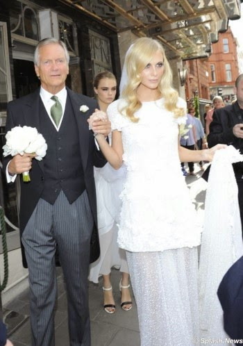 Charles Delevingne, Poppy Delevingne with  Cara in the background.