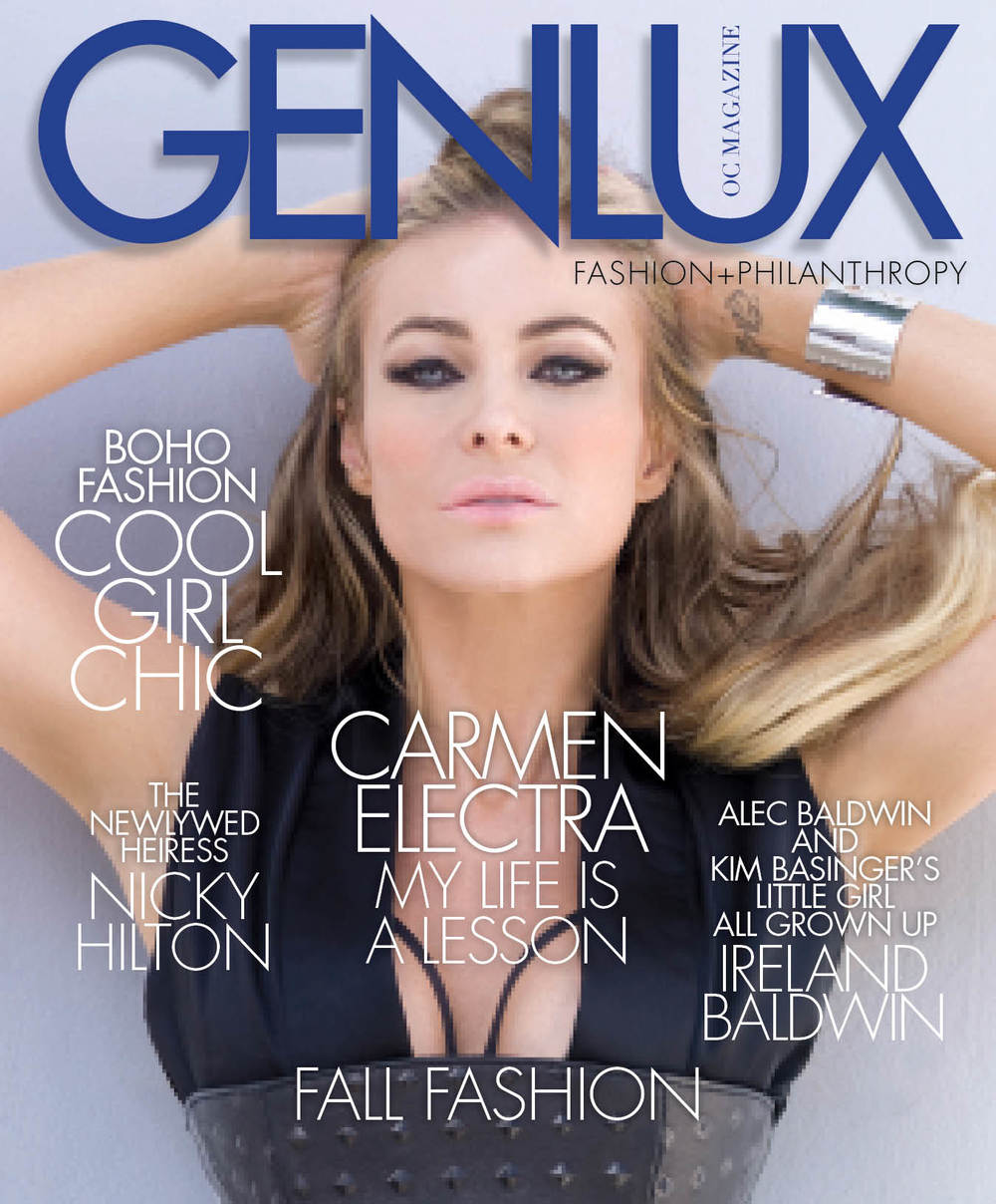 Carmen Electra on the Genlux OC Fall 2015 cover.