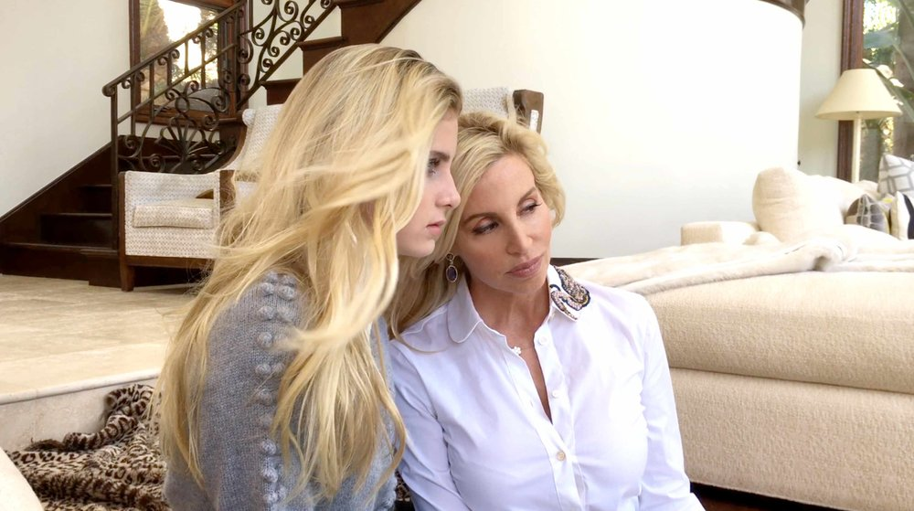 Mason Grammer with her mom, Camille at home in Malibu, October 2018