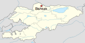 Bishkek is located in northern Kyrgyzstan.