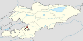 Osh is located in southern Kyrgyzstan.
