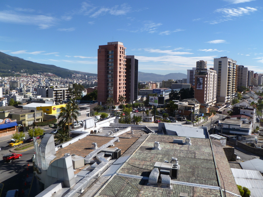 A panoramic view of the city of Quito, Ecuador