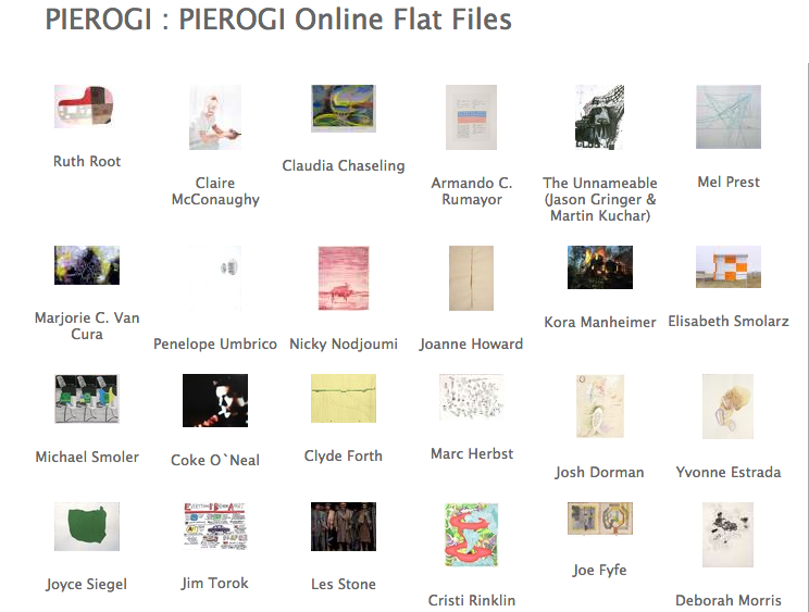 Works available at Pierogi flat files (Brooklyn, NY)