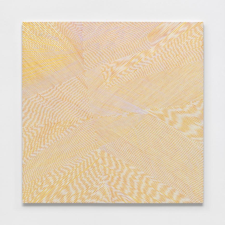 Victorian Box/ Mock Orange, 2016, acrylic on panel, 60x60x2 inches