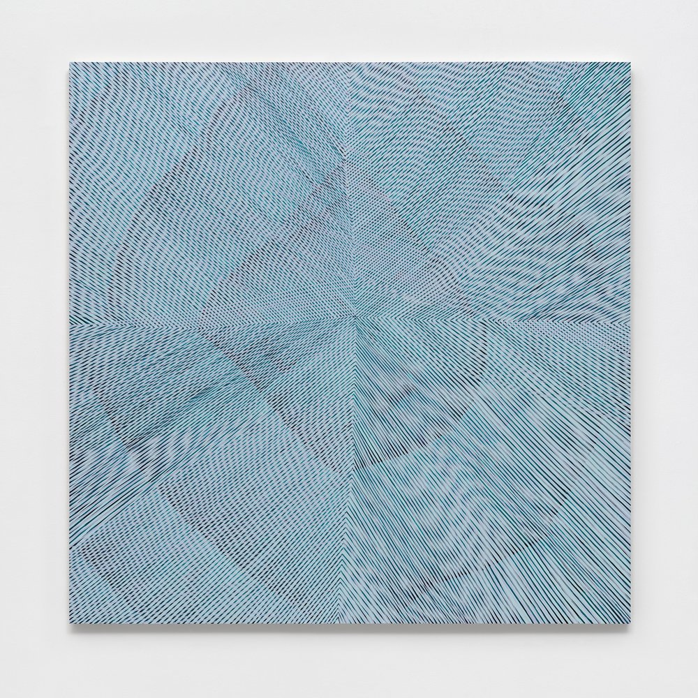 Blue Morning Glory, 2017, acrylic on panel, 60x60x2 inches