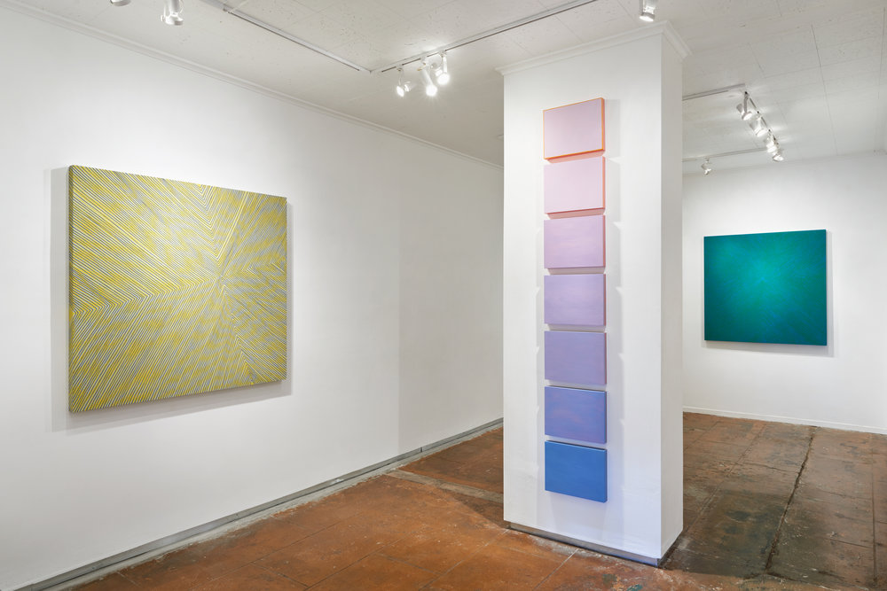 Installation view: COLOR CHANT, Solo show at Chandra Cerrito Contemporary, 2015.