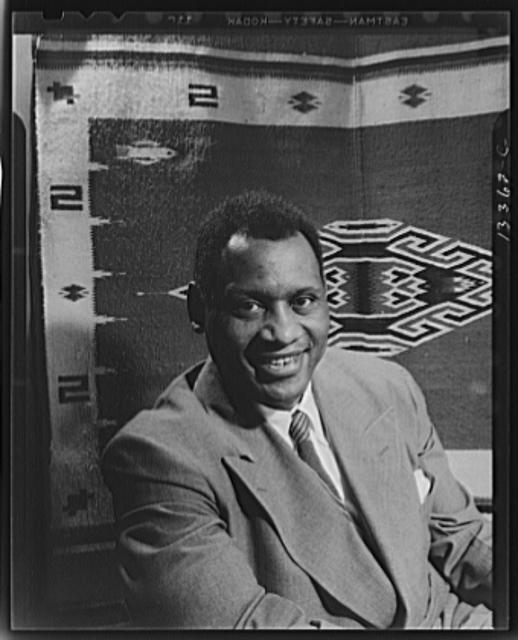 Paul Robeson, photographed by Gordon Parks in June 1942, public domain