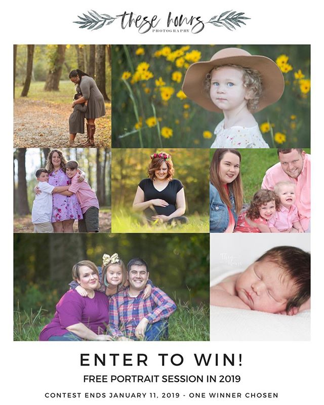 **CLOSED!** Thanks to everyone that entered - check my stories or Facebook page to see if you won!  Hey, locals! Interested in winning a free portrait session next year? Head over to my Facebook page to enter!  #daltonga #northgaphotographer #thesehoursphotography