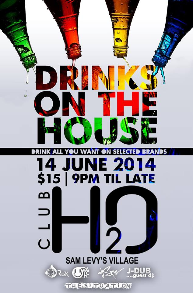 Drinks on the House @ H2O in Harare