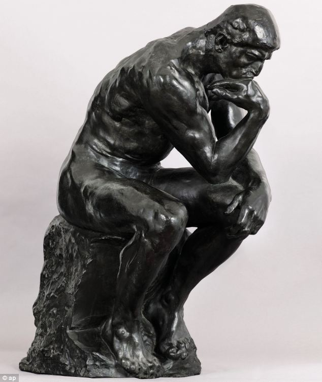 "From ancient times, The Thinker has been pondering an appropriate way to counter the excuse ""I have a Skype date later tonight"""