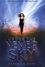 Under the Never Sky  by Veronica Rossi. The first in a trilogy. The second is  Through the Ever Night  and the third is  Into the Still Blue.   Aria has lived her whole life in the protected dome of Reverie. Her entire world confined to its spaces, she's never thought to dream of what lies beyond its doors. So when her mother goes missing, Aria knows her chances of surviving in the outer wasteland long enough to find her are slim.  Then Aria meets an outsider named Perry. He's searching for someone too. He's also wild - a savage - but might be her best hope at staying alive.  If they can survive, they are each others best hope for finding answers.