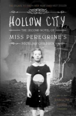 Hollow City  by Ransom Riggs. Sequel to  Miss Peregrine's Home for Peculiar Children .  The extraordinary journey that began in Miss Peregrine's Home for Peculiar Children continues as Jacob Portman and his new found friends journey to London the peculiar capital of the world. But in this war-torn city, hideous surprises lurk around every corner. Like its predecessor, this second novel in the Peculiar Children series blends thrilling fantasy with never-before-published vintage photography to create a one-of-a-kind reacting experience.