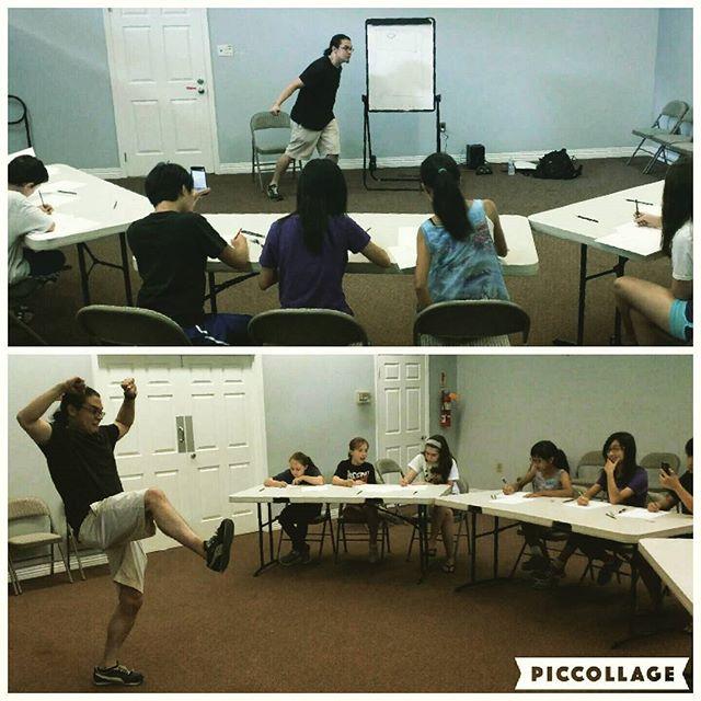 #ToddMiyashiro teaching teens how to draw comics! #comics #yaprogram #teens #rkl