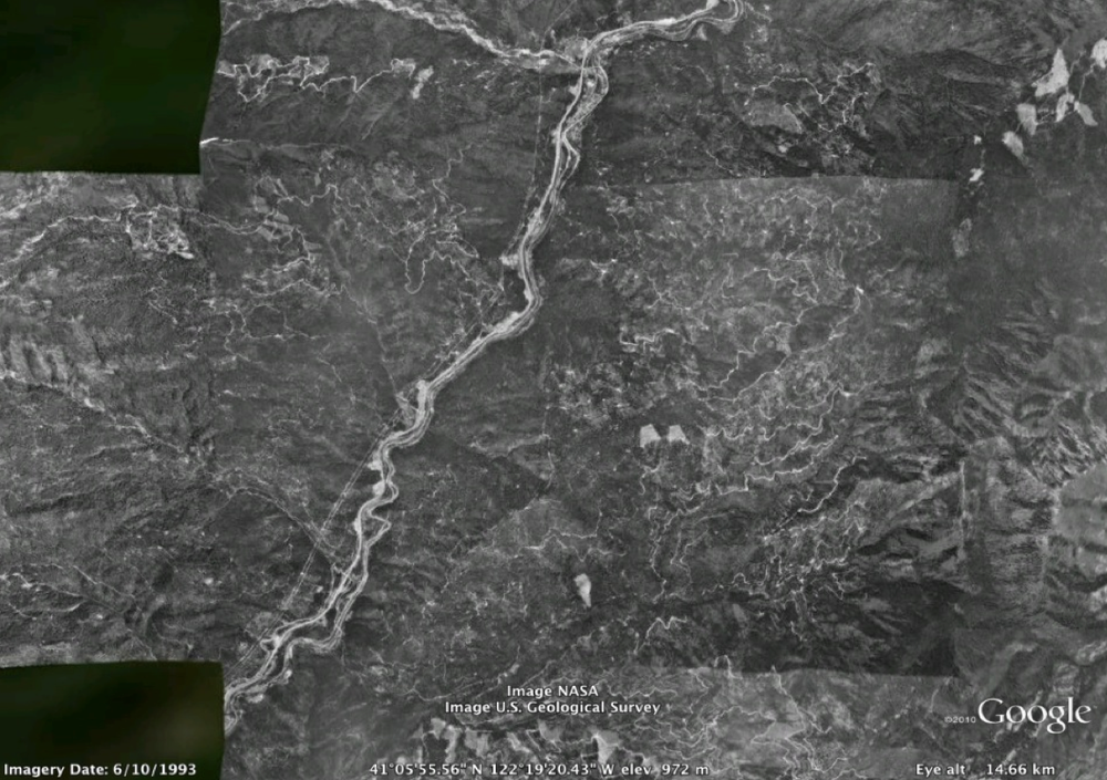 Sacramento Canyon 1993 (air photo via Google Maps)