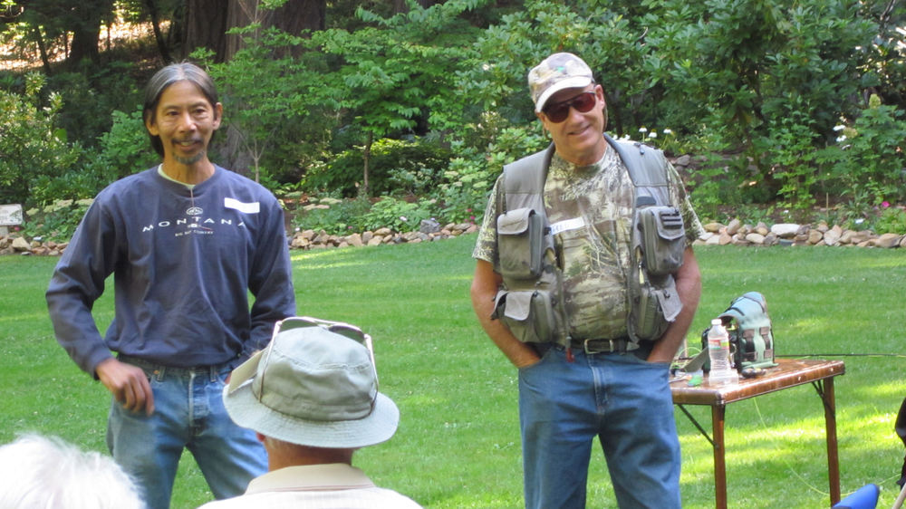 Wayne Eng and Fred Gordon address students at 2012's Fly Fishing Clinic