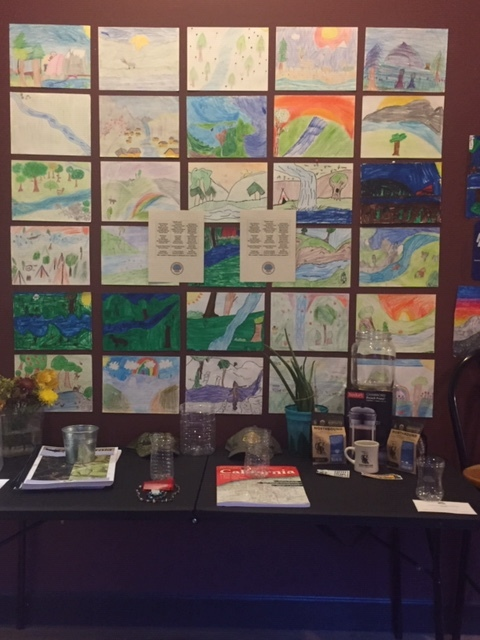 Some of the beautiful watershed artwork created by our local schools.