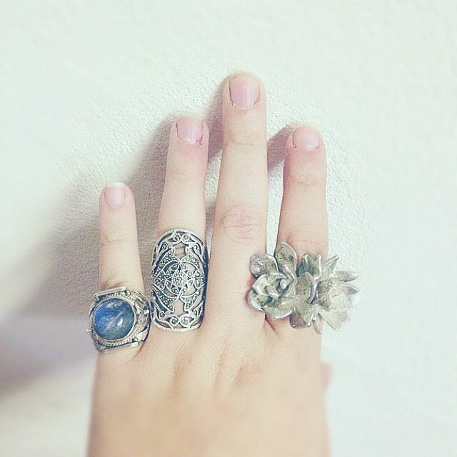 Our Double #Succulent Ring and some others join the partee ❄️🌙 #TYRAMIN  #womenswear #succulentlove #design #stylegram #fashiongram #instafashionist #fashionist #kinfolk #livefolk #liveauthentic #pursuepretty #nothingbutpixies #nothingisordinary #floral #wiwt #ootd #styleblogger #fblog #fblogger #chasinglight #fashtag #pretty #botanical #jewelry