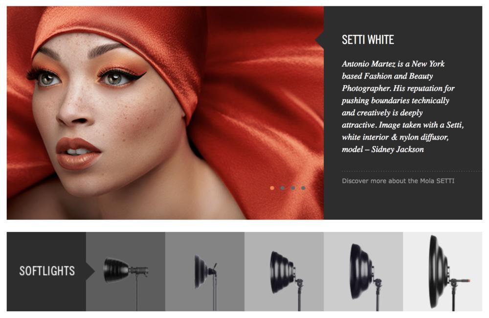 Mola Softlight Ambassador Antonio Martez is a Fashion Photographer based in New York city