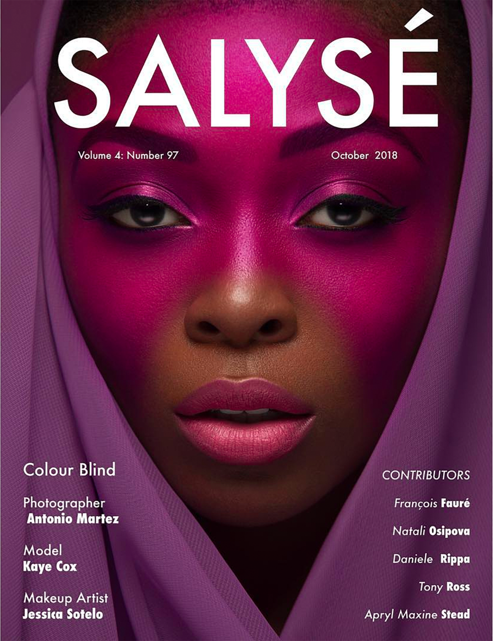 Salysé Magazine - October 2018 Cover by Antonio Martez