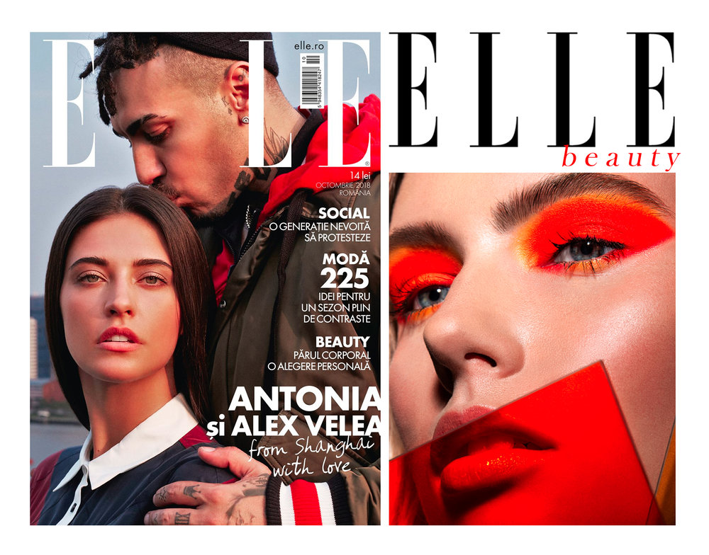 Elle Magazine, Romania's October 2018 edition featuring OYG BIV Beauty Editorial