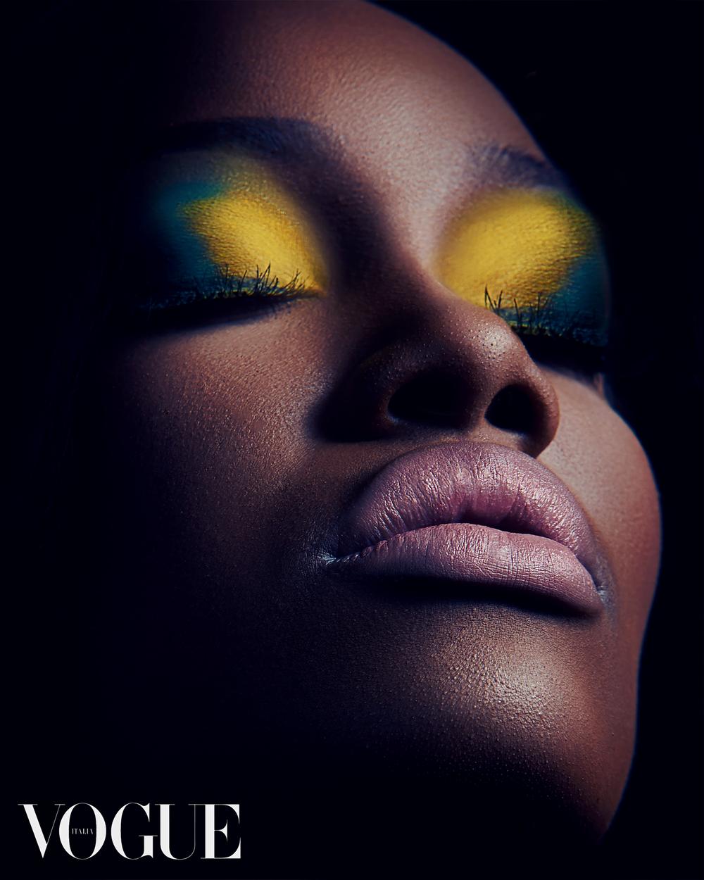 Vogue Italia, January 2019 Digital Edition featuring Ire Yardi by Antonio Martez